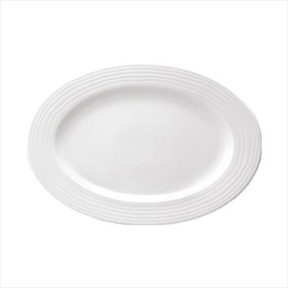 Picture of ARAINE ECLIPSE OVAL PLATE 22CM X 15.4 CM