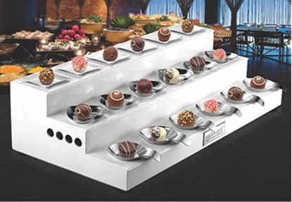 Picture of AWKENOX STEP BUFFET RISER WITH 18 MONO PORTION