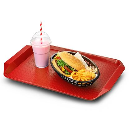 Picture of CAMBRO TRAY FAST FOOD W/H 13X17(RED)