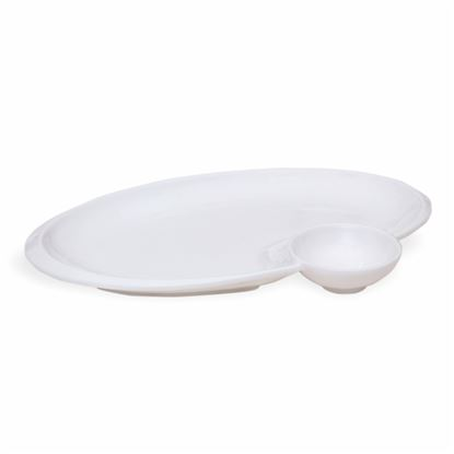 Picture of BONE-CHINA CHIP & DIP OVAL (BIG)