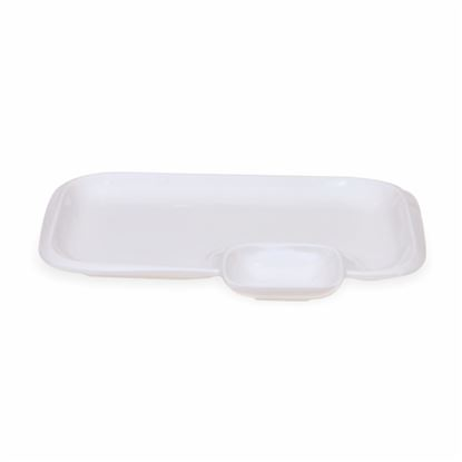 Picture of BONE-CHINA CHIP & DIP RECTANGLE (SMALL)