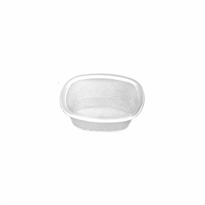 """Picture of MUSKAN CHAT PLATE SQ 4""""(CLEAR)"""