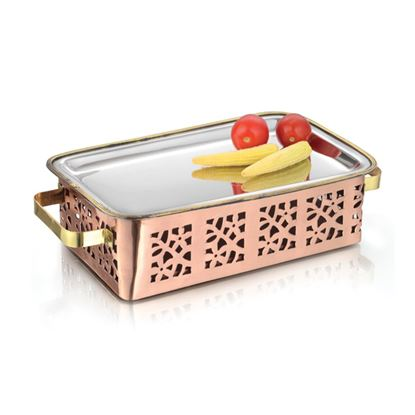 Picture of LACOPPERA SNACK WARMER RECTANGLE D/CUT